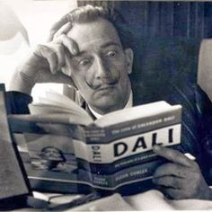 Salvador Dali reading his biography, 6 May, A photograph of the Spanish artist Salvador Dali , taken by Terry Fincher for the Daily Herald newspaper. Dali is reading Fleur Cowles' book 'The. Get premium, high resolution news photos at Getty Images Alberto Giacometti, L'art Salvador Dali, Figueras, People Reading, Jean Arp, Max Ernst, Rene Magritte, Charles Darwin, Lectures