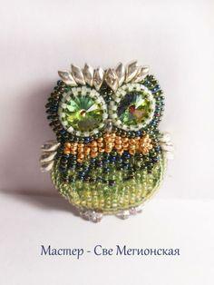 Броши-совы (несколько фото) | biser.info - всё о бисере и бисерном творчестве