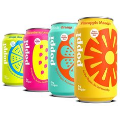 4 Modern Soda Brands to Take Your Summer Drinking to the Next Level   Epicurious Fruit Packaging, Beverage Packaging, Juice Branding, Soda Brands, Packaging Design Inspiration, Design Packaging, Bottle Design, Summer Drinks, Canning