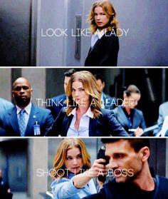 ''Look like a lady, think like a leader, shoot like a boss.'' / Sharon Carter