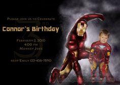 Iron Man Birthday Invitation Printable by KAlbertCreations2, $10.00