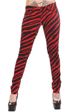 http://www.3rdand56thstreetclothing.co.uk/shop/Womens Clothing/Skinny Fit Jeans  Drainpipe Trousers/Punk Emo Scene Bubblegum Red Zebra Skinny Jeans.html