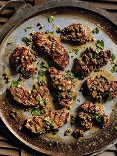 Escalopes de porc grillées piccata Healthy Recipes, Healthy Food, Beef, Filets, Chicken, Favorite Recipes, Pork Schnitzel, Healthy Balanced Diet, Being Healthy