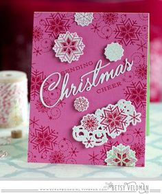 Sending Christmas Cheer Card by Betsy Veldman for Papertrey Ink (October 2015)