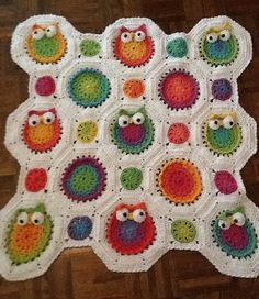 Owl Children's Afghan or Wall Hanging by DawnsCrochet on Etsy, $65.00
