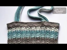 This is a Mikey Original Design simply called the Crochet Easy V Bag. The repeat pattern is a straight shot up from the base of the bag to the top.