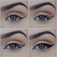 winged eyeliner. makeup tip.