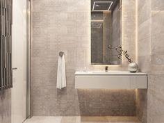 Bathroom interiors on Behance Bathroom Interior, Bathrooms, Bathtub, Vanity, Behance, Design Inspiration, Interiors, Architecture, Standing Bath