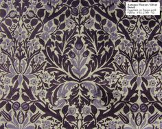 Historic Style - Autumn Flowers Eggplant, fabric by William Morris William Morris, Victorian Fabric, Autumn Flowers, Pretty Patterns, Fabric Crafts, Pattern Design, Arts And Crafts, Fabrics, Textiles