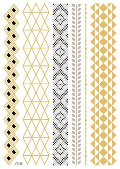 e7e3a4b4f Temporary tattoos Waterproof tattoo stickers body art Painting for party  event decoration metalic bracelet black golden Wh