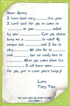 Christmas letter template to santa claus for print or website for christmas letter template mr popper christmas letter template to santa online games spiritdancerdesigns Gallery