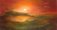 The sky and the sea by Roman Velichko Roman, Framed Prints, Canvas Prints, Pretty Pictures, Pretty Pics, Ciel, Moonlight, Surrealism, Cool Art