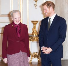 Prince Harry Bonds with Denmark's Queen Margrethe | PEOPLE.com