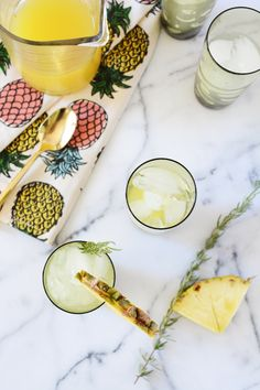 Oleander and Palm: Pineapple Rosemary Spritzer