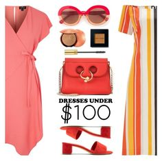 """""""Under $100: Summer Dresses"""" by ansev ❤ liked on Polyvore featuring Topshop, J.W. Anderson, Mansur Gavriel, Max&Co., Guerlain, Bobbi Brown Cosmetics, Yves Saint Laurent, Finery London and under100"""