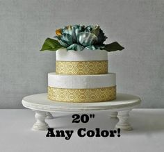 cake stand / 20 wedding cake stand / 20 inch cake stand / rustic wedding decoration / wooden wedding cake stand / vintage inspired wedding decor / pedestal cupcake stand / outdoor wedding decor / bridal shower / cake pop stand / cake dessert pedestal stand / dessert candy bar buffet / beach wedding / square cake stand / grooms cake / fall wedding decor / country wedding / farm wedding / vintage whitewash  PLEASE ALLOW 2 WEEKS BEFORE SHIPPING!!  *20 cake stand in distressed color of choice…