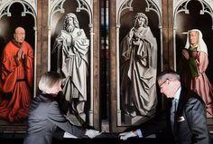 Ghent Altarpiece Restored to Original Splendor | artnet News Jan Van Eyck, Chef D Oeuvre, Oeuvre D'art, Rembrandt, Ghent Altarpiece, God Tattoos, Hieronymus Bosch, Mystique, Animal Tattoos