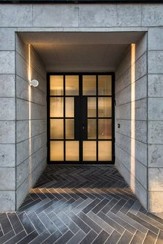 Semi Detached Residential House In Holon, Israel - Picture gallery Modern Entrance Door, Entrance Lighting, Semi Detached, Detached House, Sims 4 Houses, In Law Suite, Door Design, Architecture Design, Interior Design