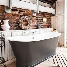 Decora el baño con ladrillos vistos
