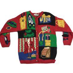 Christmas Fashion Show Vintage Sweater Size L Cool Sweaters, Vintage Sweaters, Cool Jumpers, Ugly Holiday Sweater, Fashion Show, Fashion Outfits, Christmas Fashion, Christmas Holiday, Knitwear