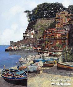 مناظر طبيعية فى لوحات تشكيلية للفنان Guido Borelli