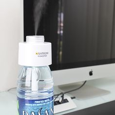 The Satechi USB Portable Humidifier creates a soothing personal space at home, the office, in a car, or traveling. To use, fill a bottle or ...