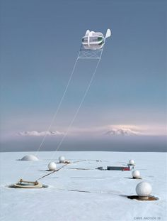 Environmentally friendly energy source. Ideal for farms & remote locations, the Magenn Power Air Rotor System (MARS) wind turbine floats in the air while tethered to the ground. This lighter-than-air wind turbine rotates around a horizontal axis wherever the wind is blowing & generates electrical energy. This electrical energy passes down the tether to a transformer & then transferred to the electricity power grid.   www.magenn.com