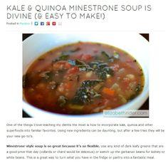 kale quinoa minestrone soup