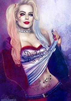 Margot Robbie Harley Quinn | Ce fan-art de Margot Robbie en Harley Quinn a été réalisé par l ...