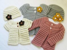 CROCHET PATTERN Toddler Cardigan and Beanie (4 sizes included: 6 months to 5 toddler) permission to sell finished items - LoveItSoMuch.com