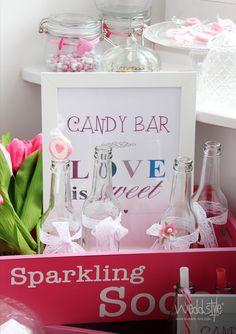 Candy Bar Schild Idee. www.weddstyle.de/hochzeit-candybar-mieten.html #weddstyle