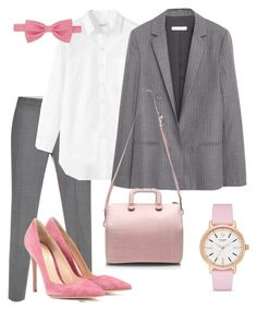 The Lady Wears Pink by falonstarrider on Polyvore featuring мода, Toast, MANGO, Paul Smith, Gianvito Rossi, 3.1 Phillip Lim, Kate Spade, Forzieri and ootd