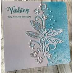 ideas for wedding card creative embossing folder Handmade Birthday Cards, Greeting Cards Handmade, Paper Cutting, Die Cutting, Butterfly Cards, Scrapbook Cards, Scrapbooking, Paper Cards, Making Ideas