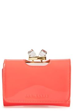 Ted Baker London 'Small' Crystal Kiss Lock Wallet | Nordstrom