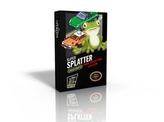 Splatter! is a trick taking card game based off of the theme of the ever-classic amphibious arcade game. But the twist is that instead of playing the frog, you are the car. For that matter, all players are cars-competing to splat that blasted frog!  Players play tricks, earning and building up their stock pile of ammunition and weapons to better help them splat that frog once and for all. Of course the frog, Splatter, comes with 6 lives so he can handle quite a bit.