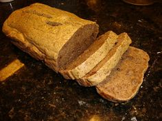 A+++ FINALLY a low carb bread! I make this as often as possible at our house! Even my husband, Mr. Food Snob, LOVES it. The site has tons more inexpensive, grain-free recipes, too! (I used 1 tsp stevia glycerite for the sweetener) Paleo Bread, Easy Bread, Low Carb Bread, Bread Baking, Low Carb Peanut Butter, Low Carb Recipes, Cooking Recipes, Free Recipes, Breads