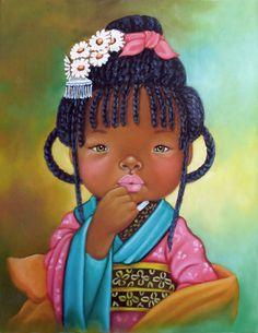 Niños de África de Dora Alis : Muñequitas y Muñequitos