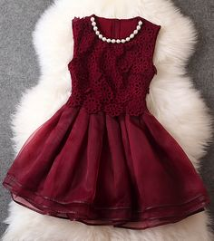Gorgeous dress - love the wine red!