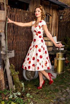 Heidi Varooom. Love the supersized cherry print.