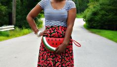 Watermelon Clutch   25 Adorable Purses And Bags You Can Make Yourself