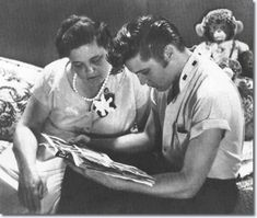 Gladys and Elvis Presley