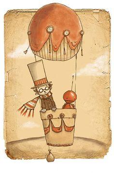 Balloon man ~ Abigail Halpin