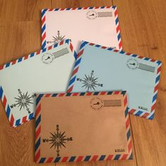 Handmade C5 Self Seal Airmail Envelopes (Pack of 25) by CranerCreations on Etsy