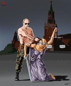 O cartunista Gunduz Agayev faz ilustrações polêmicas nas quais satiriza líderes políticos e religiosos sobre como eles veem a justiça. Confira