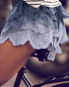 Tiered Eyelet Shorts by Free People