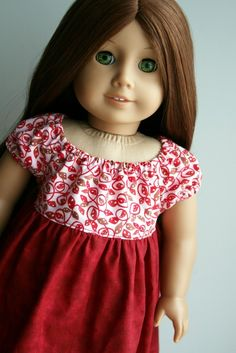 American Girl Doll Clothes  Leafy Swirl Valentine by dollcloset