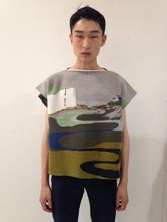 milkpopp:  Sang Woo Kim wearing JW Anderson at the Duckie Brown backstage.