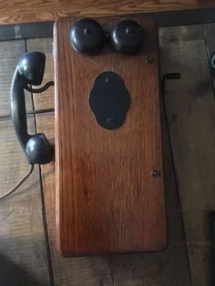 Antique Oak Wood Telephone Kellogg Handset Receiver Magneto Dry Cells Vintage | eBay