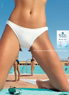 "Veet Bikini Kit - ""This summer put stubble trouble behind you."" (Advertising Agency: JWT, London) 