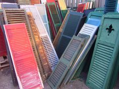 shutters waiting for a home